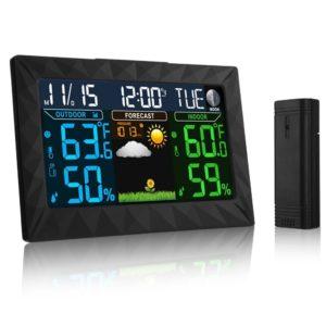 Funkwetterstation mit LCD Farbdisplay, iLifeSmart TS-Y01 Wetterstation